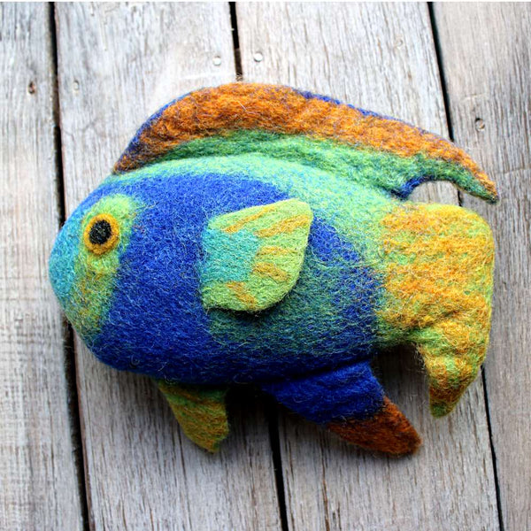 Tropical fish felt animal