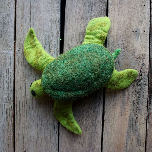 sea turtle felt animal from nepal