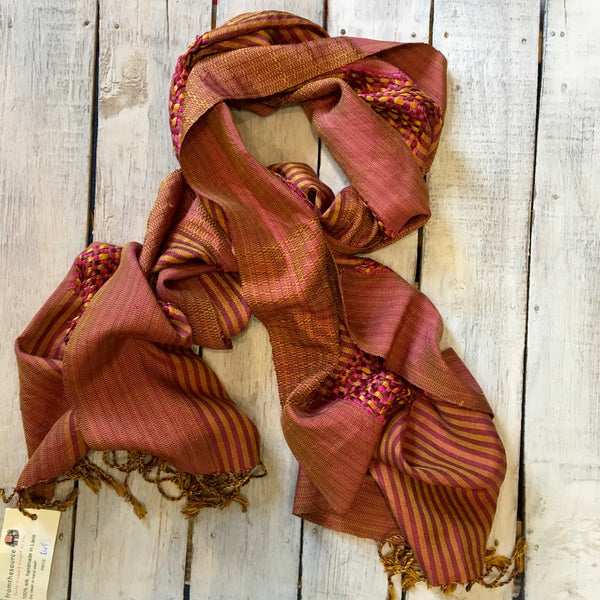 100% silk scarf made in Laos