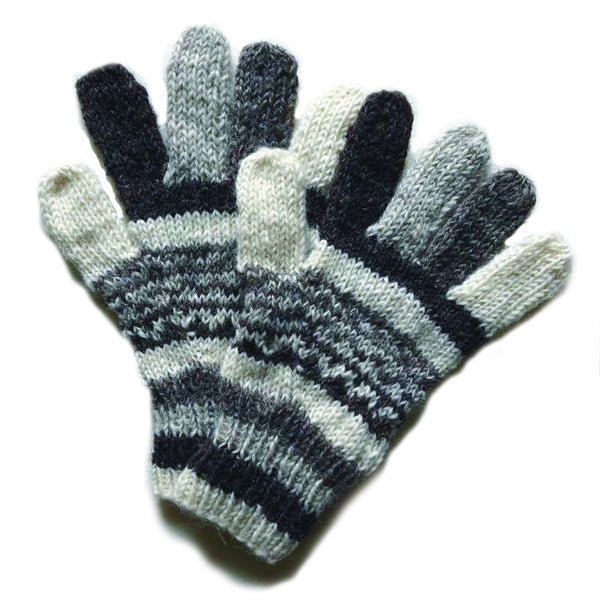 nordic knit wool gloves