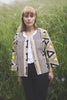 block printed bolero style cotton jacket in yellow and black