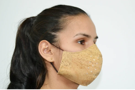 Benedictine company Montlusa created reusable personal masks made out of Cork