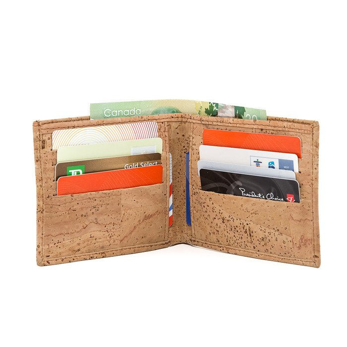 Slim Bi-Fold Cork Wallet - Cork by Design