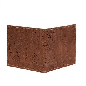 Slim Bi-Fold Cork Wallet Brown Natural Combo - Cork by Design
