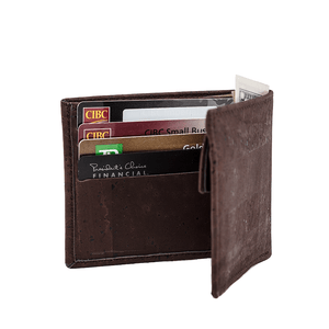 Cork Wallet-Coin Combo Vegan Gift Brown - Cork by Design