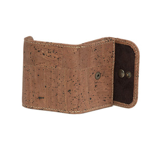 Cork Coin Money Holder Compact Wallet Brown Cork by Design