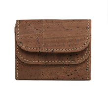Load image into Gallery viewer, Cork Coin Money Holder Compact Wallet Brown Cork by Design