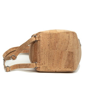 Convertible Shoulder Bag to Collapsible Backpack Natural Cork by Design