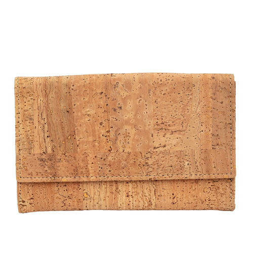 Cork Wallet Large Natural - Cork by Design