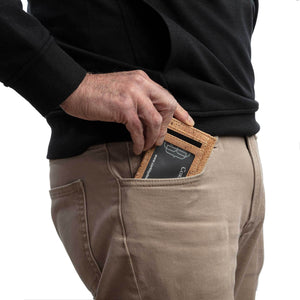 Cork Minimalist Wallet Front Pocket Thin Card Holder - Cork by Design