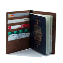 Load image into Gallery viewer, Passport Cover With Card Slots Brown - Cork by Design