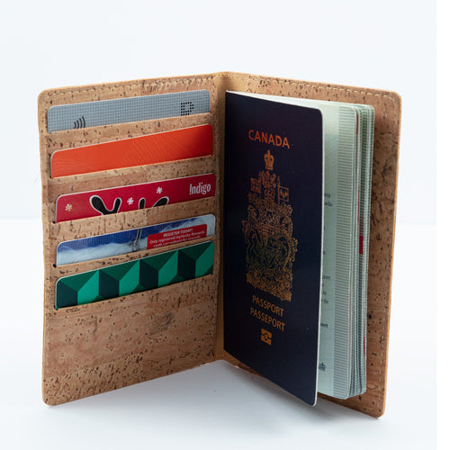 Passport Cover With Card Slots - Cork by Design