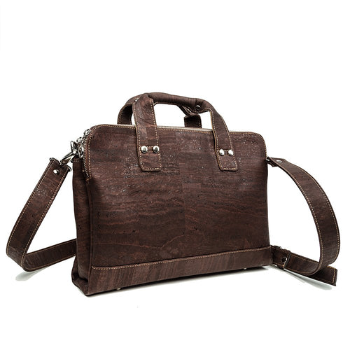 Cork Computer Bag Briefcase Dark Brown Cork by Design