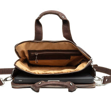 Load image into Gallery viewer, Cork Computer Bag Briefcase Dark Brown Cork by Design
