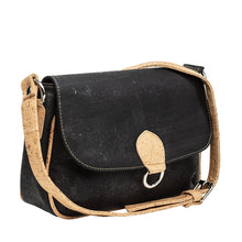 Load image into Gallery viewer, Cork Handbag Cross-body Compact Black Cork Cork by Design