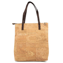 Load image into Gallery viewer, Cork Shopping Bag Ultra Light Zippered Tote Handbag - Cork by Design