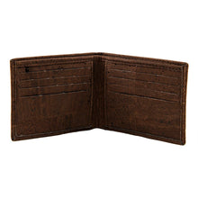 Load image into Gallery viewer, Slim Bi-Fold Brown Cork Wallet - Cork by Design