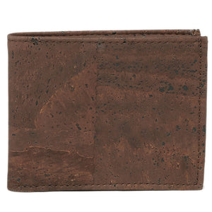 Slim Bi-Fold Brown Cork Wallet - Cork by Design