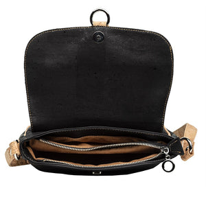 Cork Handbag Cross-body Compact Black Cork Cork by Design