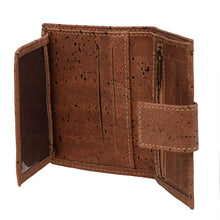 Load image into Gallery viewer, Compact Brown Cork Wallet Cork by Design