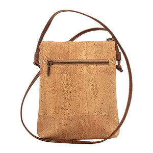 Cork Cross-Body Vegan Handbag Brown Triangle Pocket Bag Cork by Design