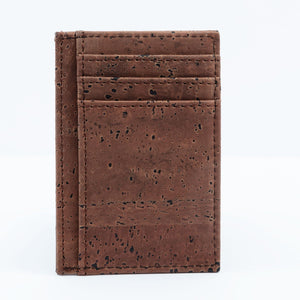 Cork Minimalist Wallet Front Pocket Thin Card Holder Brown - Cork by Design