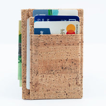 Load image into Gallery viewer, Cork Minimalist Wallet Front Pocket Thin Card Holder - Cork by Design