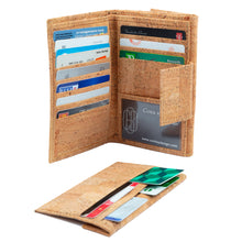Load image into Gallery viewer, Cork Wallet Large Brown Natural