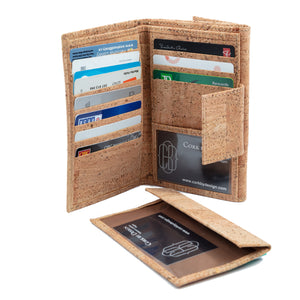 Cork Wallet Large Brown Natural