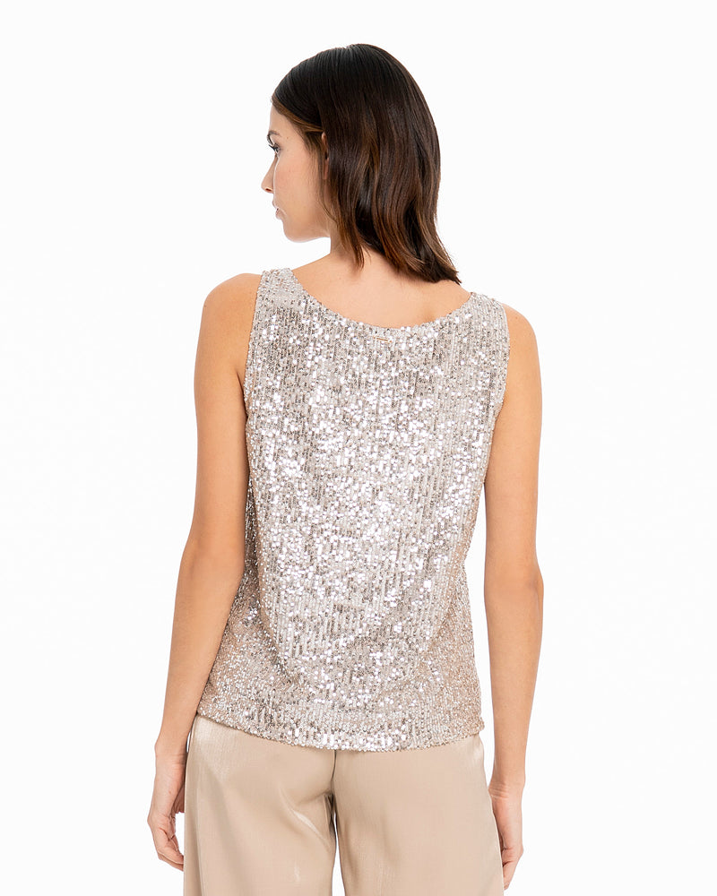 Top di paillettes