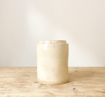 Cream White Wide Jar