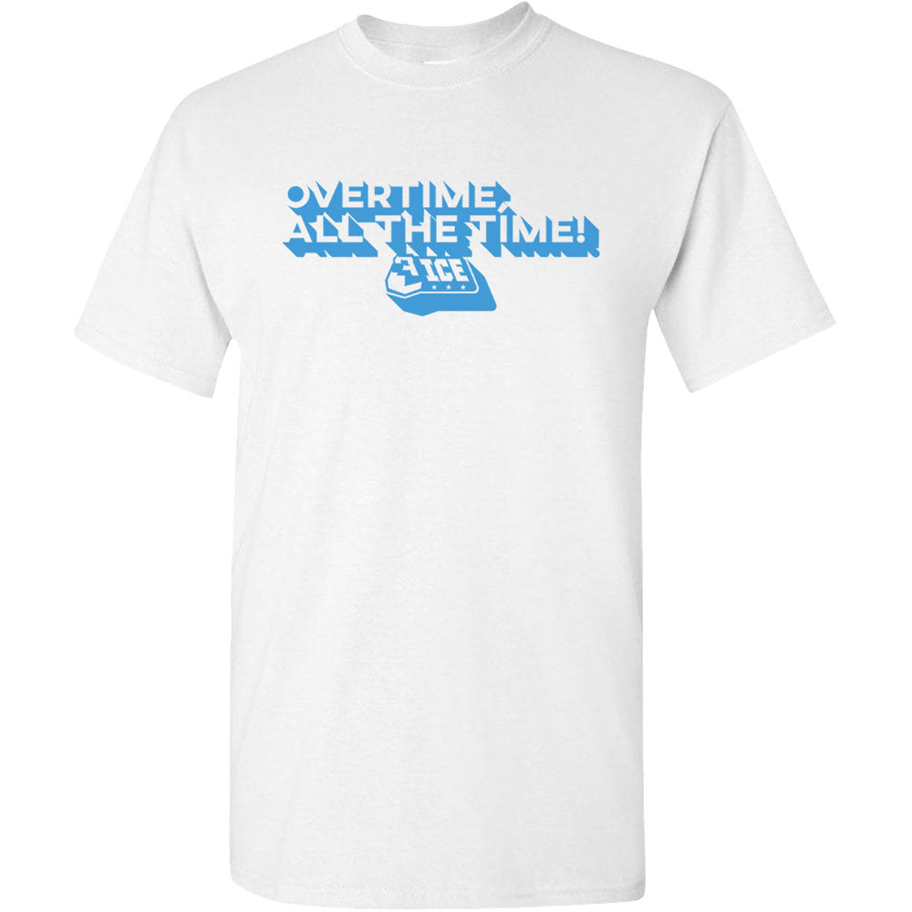 Overtime Block White T-Shirt