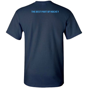 Overtime Block Navy T-Shirt