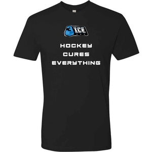 Hockey Cures Everything Black T-Shirt