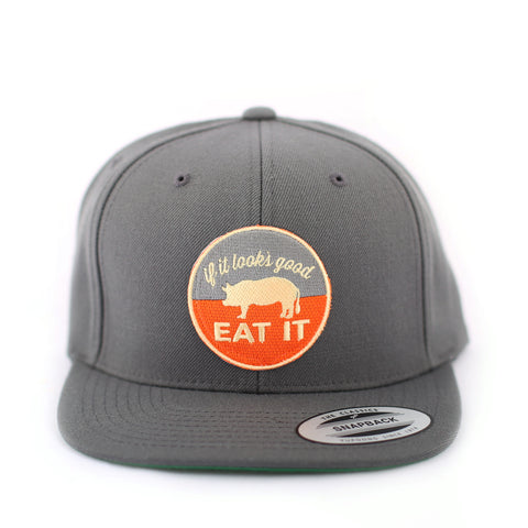 Pig Flat-Brim Hat (Grey) - Shop Andrew Zimmern - Clothing  - 1