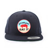 Pig Flat-Brim Hat (Navy) - Shop Andrew Zimmern - Clothing  - 2