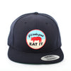 Pig Flat-Brim Hat (Navy) - Shop Andrew Zimmern - Clothing  - 1