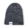 Ribbed Marled Pig Beanie (Navy/Gray) - Shop Andrew Zimmern - Clothing  - 2