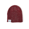 Ribbed Marled Pig Beanie (Burgundy/Gray) - Shop Andrew Zimmern - Clothing  - 2