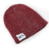 Ribbed Marled Pig Beanie (Burgundy/Gray) - Shop Andrew Zimmern - Clothing  - 3