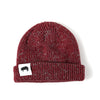 Ribbed Marled Pig Beanie (Burgundy/Gray) - Shop Andrew Zimmern - Clothing  - 1