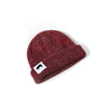 Ribbed Marled Pig Beanie (Burgundy/Gray) - Shop Andrew Zimmern - Clothing  - 4