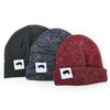 Ribbed Marled Pig Beanie (Navy/Gray) - Shop Andrew Zimmern - Clothing  - 4