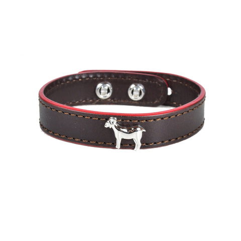 Delicacies Thick Cuts Brown Leather Goat Bracelet (Exclusive) - Shop Andrew Zimmern - Accessories  - 1