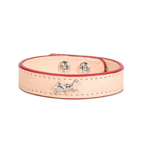 Delicacies Thick Cuts Natural Leather Cricket Bracelet (Exclusive) - Shop Andrew Zimmern - Accessories  - 1