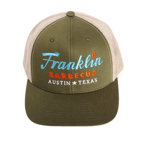 Franklin Barbecue Cap from Austin, TX (Moss Green) - Shop Andrew Zimmern - Clothing  - 1