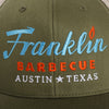 Franklin Barbecue Cap from Austin, TX (Moss Green) - Shop Andrew Zimmern - Clothing  - 3