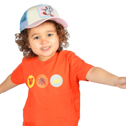 Andrew Zimmern's Canteen Animals Kids and Youth Tee (Orange) - Shop Andrew Zimmern - Clothing