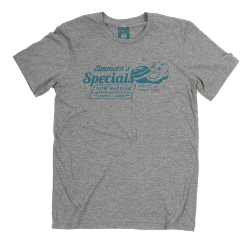Zimmern's Specials T-Shirt (Men's-Vintage Gray) - Shop Andrew Zimmern - Clothing  - 1