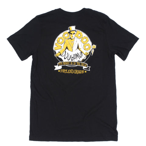 Voodoo Doughnut T-Shirt from Portland, OR (Unisex-Black) - Shop Andrew Zimmern - Clothing  - 1